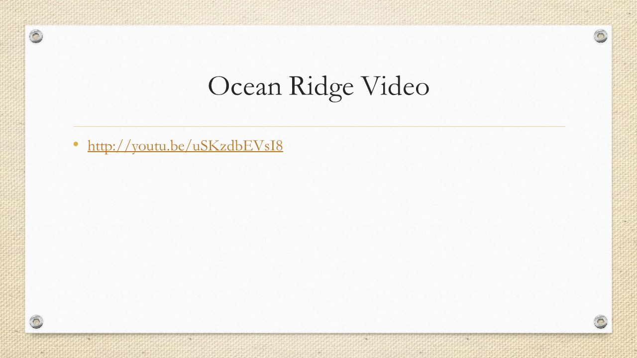 Ocean Ridge Video http://youtu.be/uSKzdbEVsI8