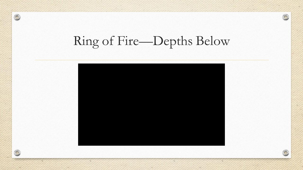 Ring of Fire—Depths Below
