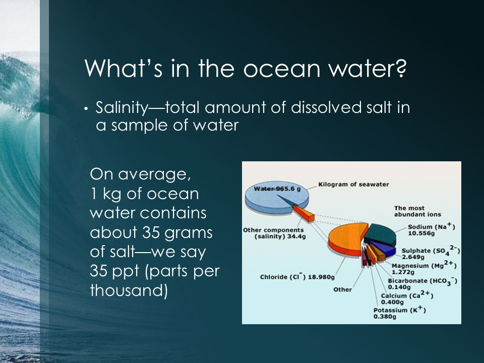What's in the ocean water