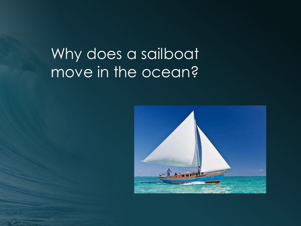 Why does a sailboat move in the ocean