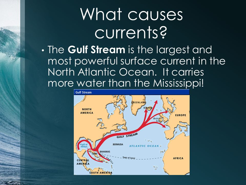 What causes currents