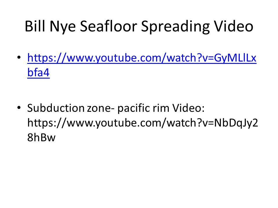 Bill Nye Seafloor Spreading Video