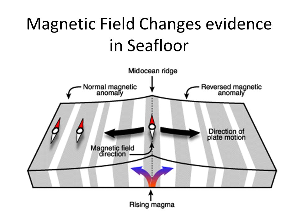 Magnetic Field Changes evidence in Seafloor