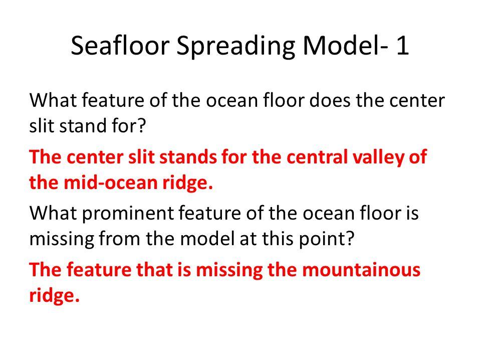 Seafloor Spreading Model- 1