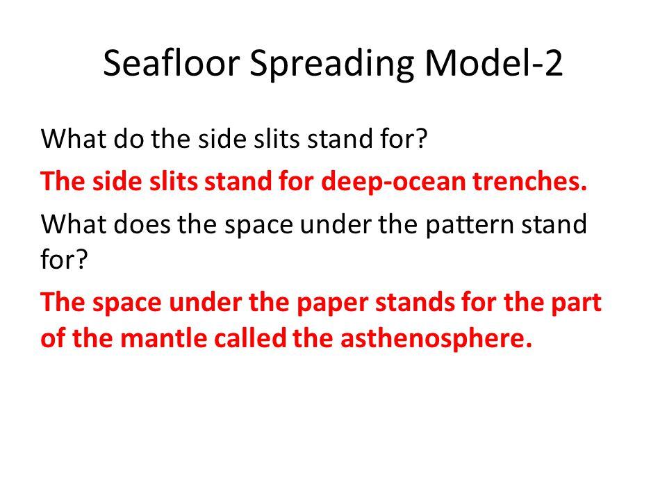 Seafloor Spreading Model-2