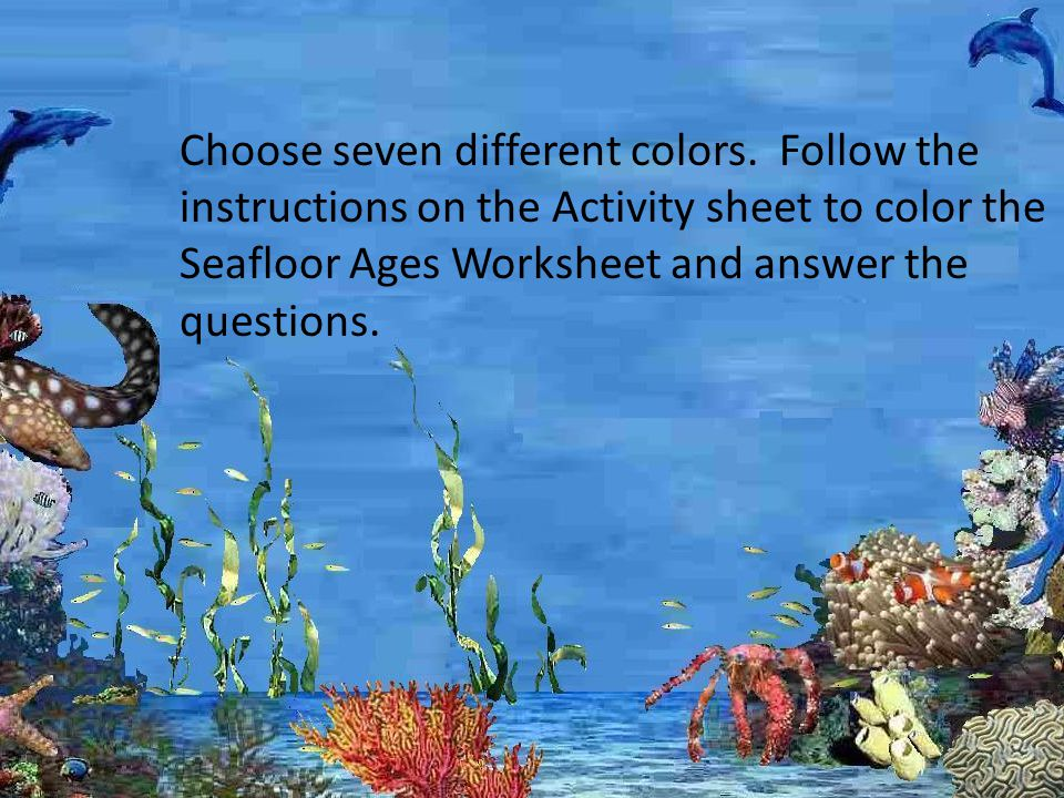 Seafloor Ages Activity