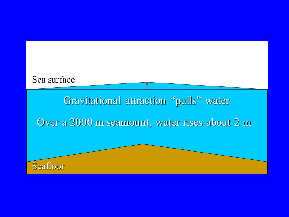Gravitational attraction pulls water