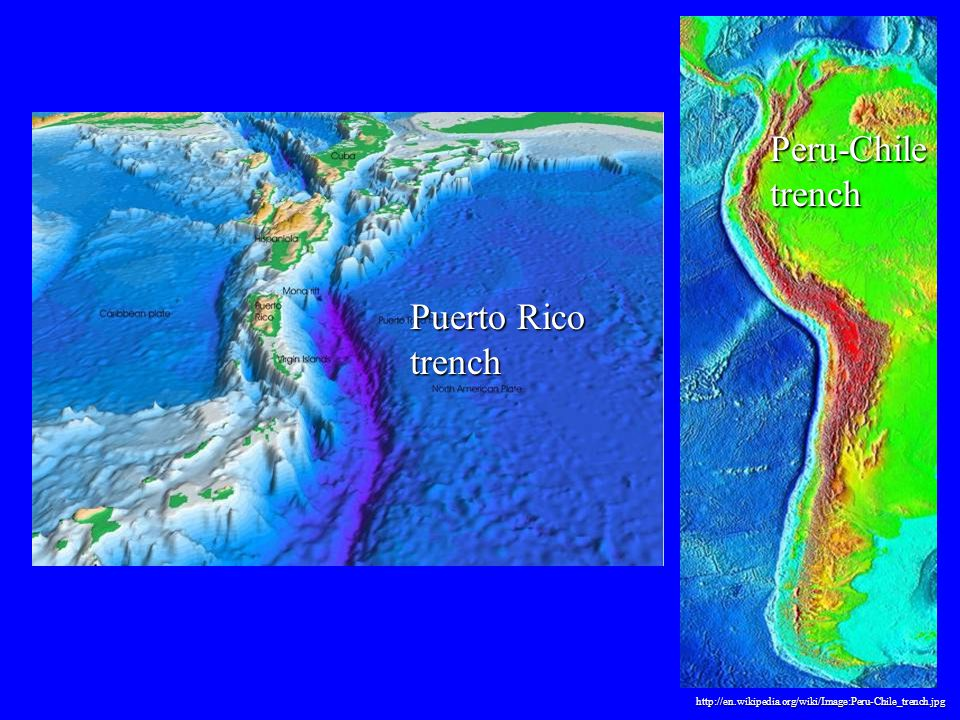 Peru-Chile trench Puerto Rico trench