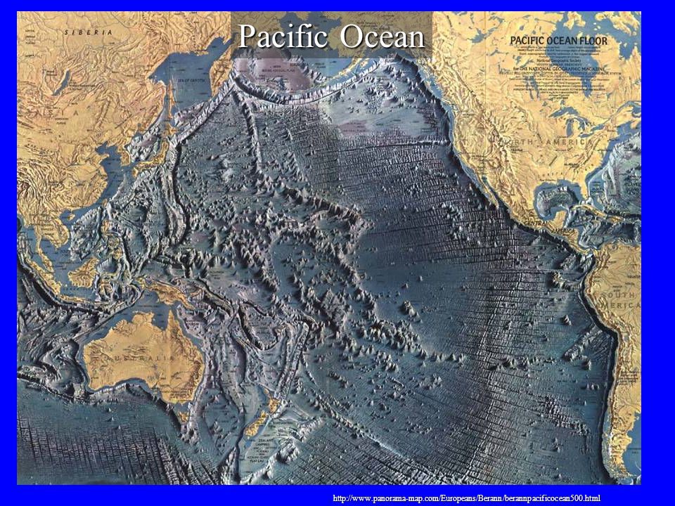 Pacific Ocean http://www.panorama-map.com/Europeans/Berann/berannpacificocean500.html