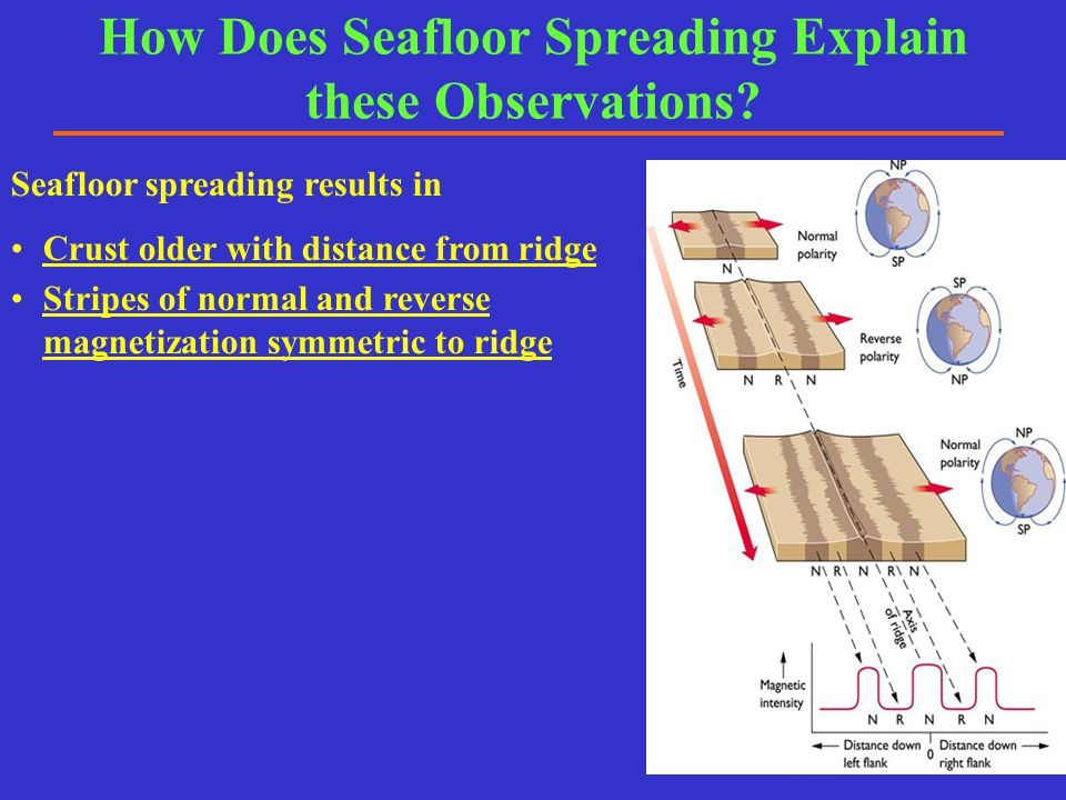 How Does Seafloor Spreading Explain these Observations