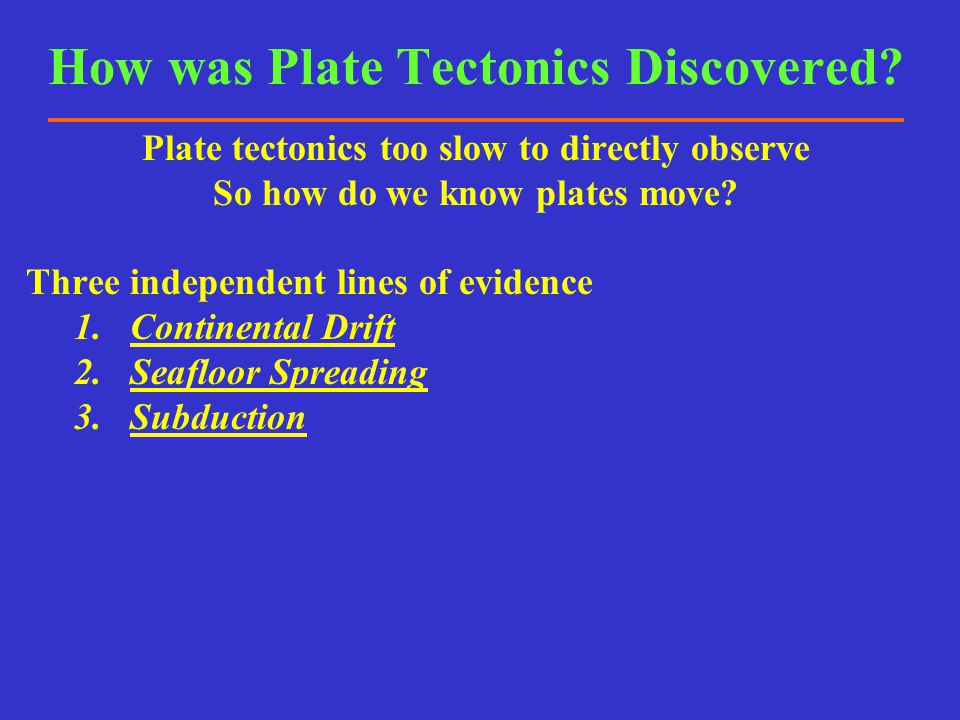 How was Plate Tectonics Discovered