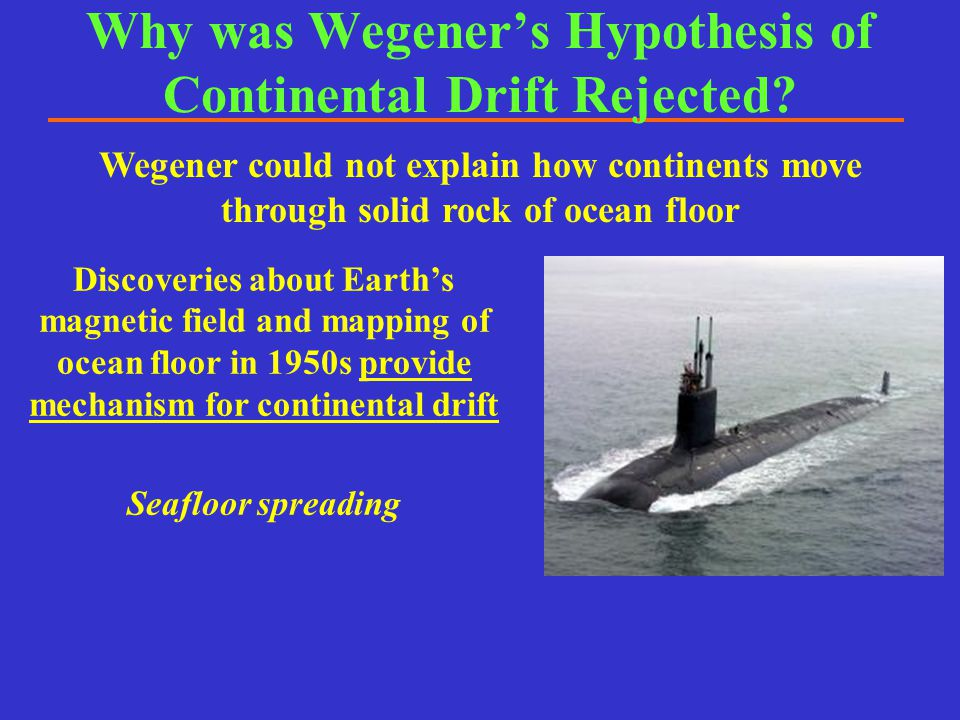 Why was Wegener's Hypothesis of Continental Drift Rejected