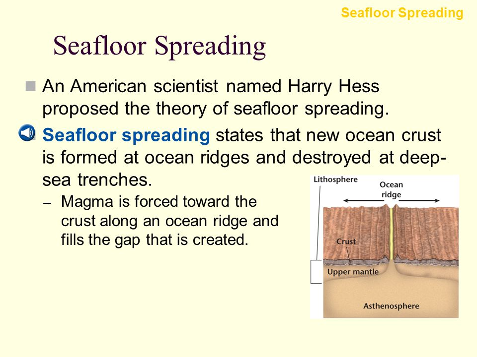 Seafloor Spreading And Plate Tectonics Ppt Download