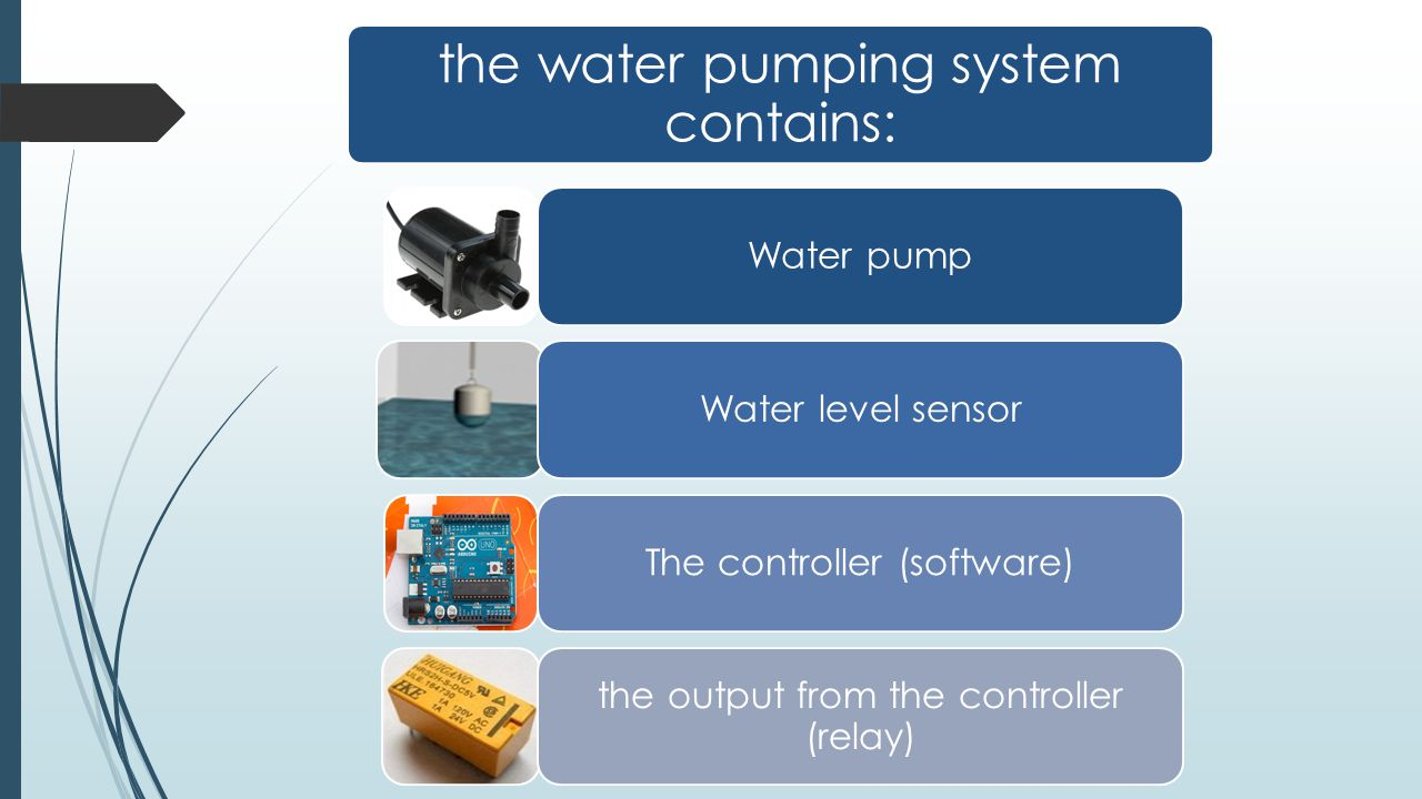 the water pumping system contains: