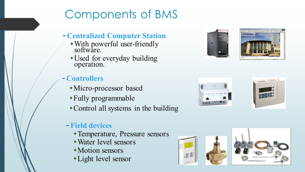 Components of BMS Centralized Computer Station