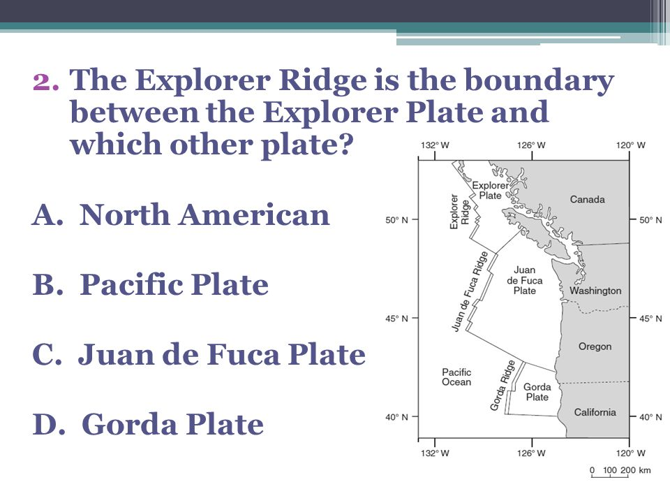 The Explorer Ridge is the boundary between the Explorer Plate and which other plate