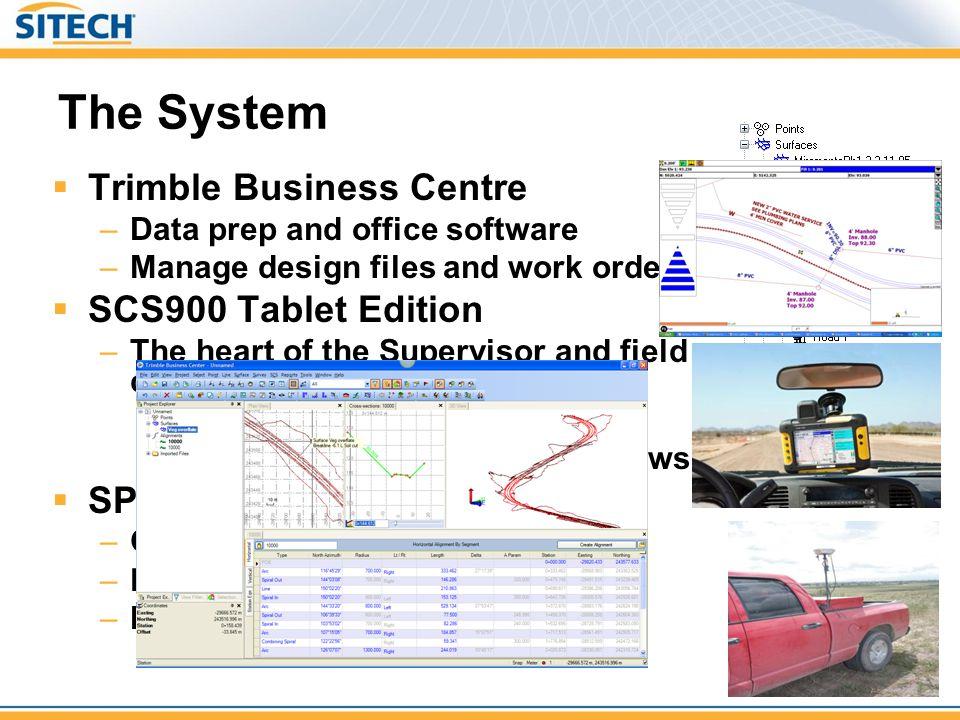 The System Trimble Business Centre SCS900 Tablet Edition SPS882