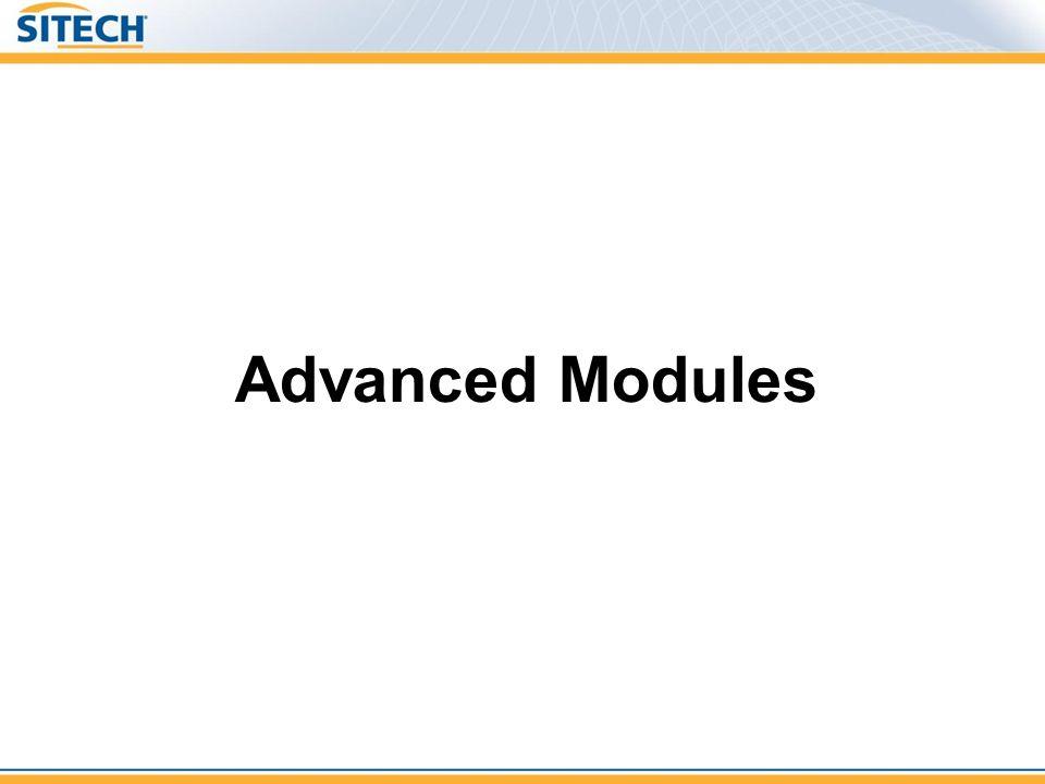 Advanced Modules