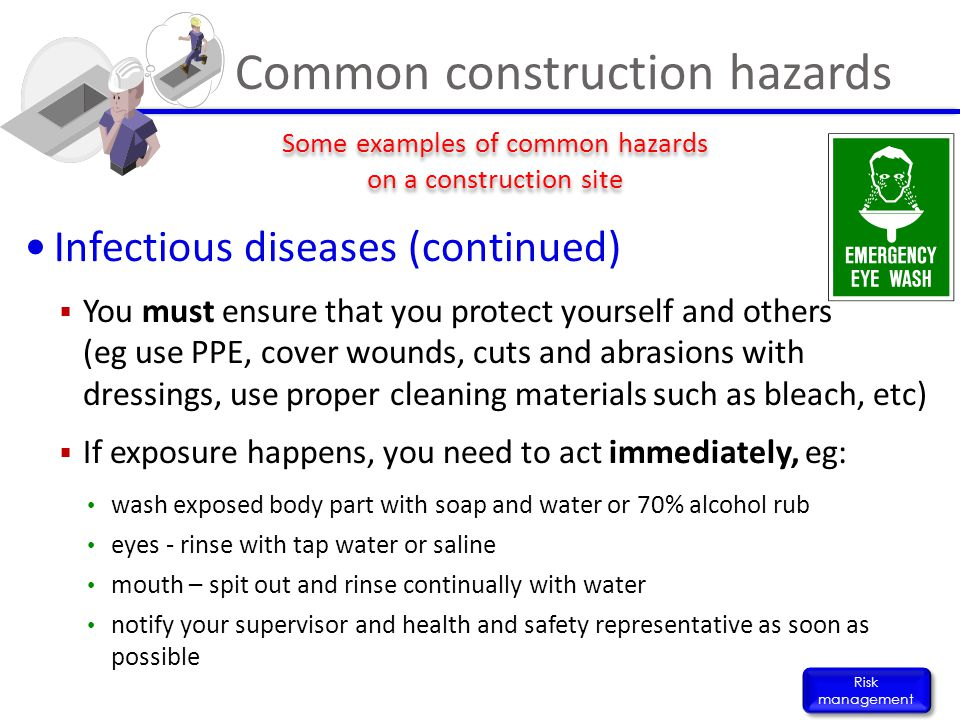 Common construction hazards