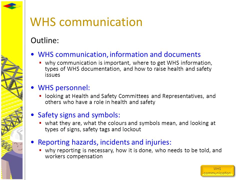 WHS communication Outline: