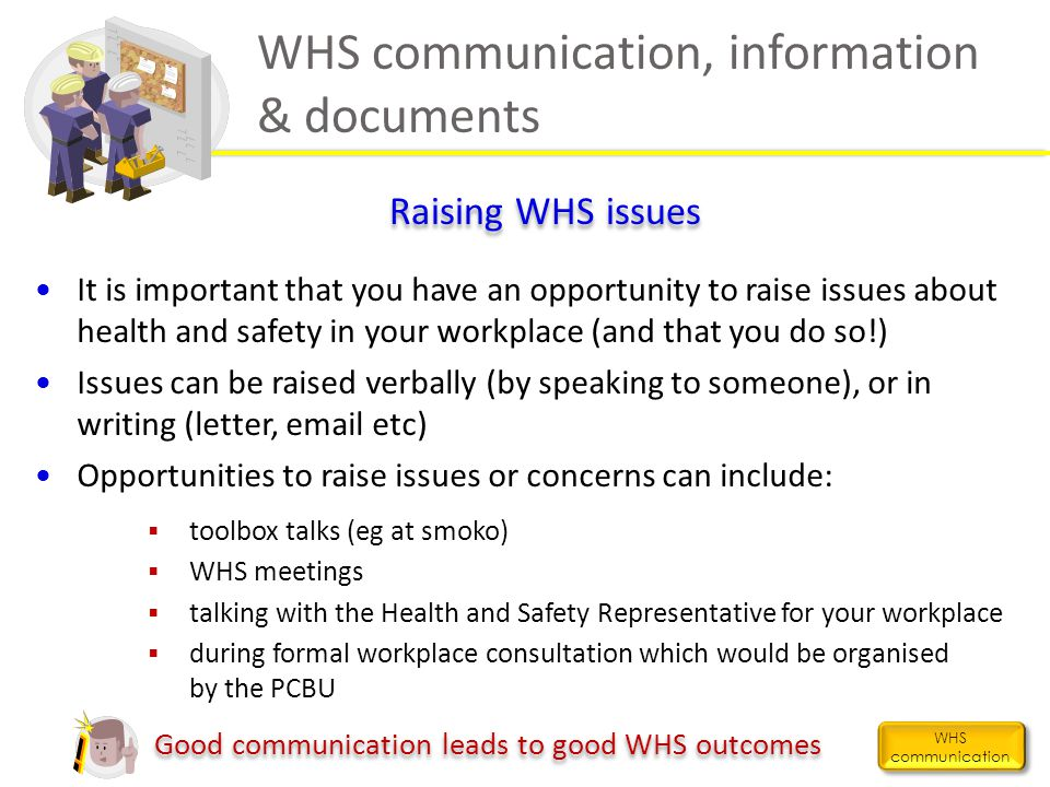 WHS communication, information & documents