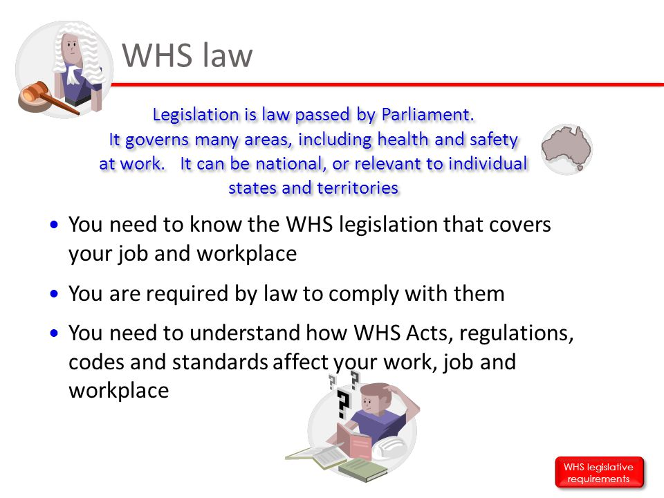WHS legislative requirements