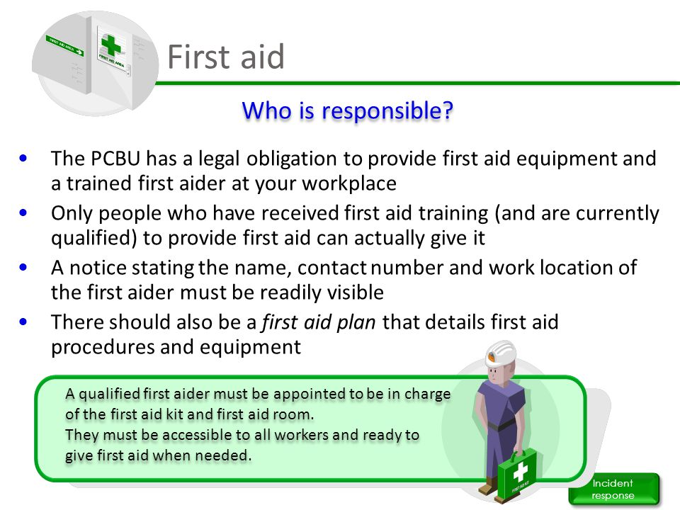 First aid Who is responsible