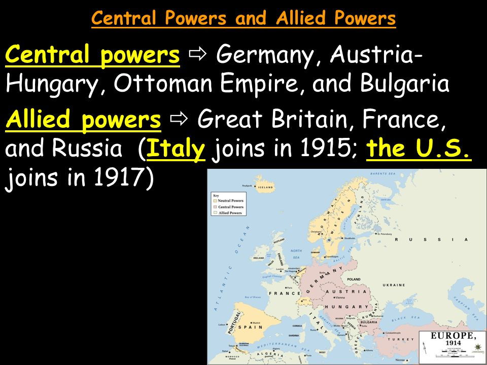 Central Powers and Allied Powers