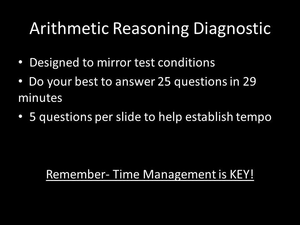Arithmetic Reasoning Diagnostic