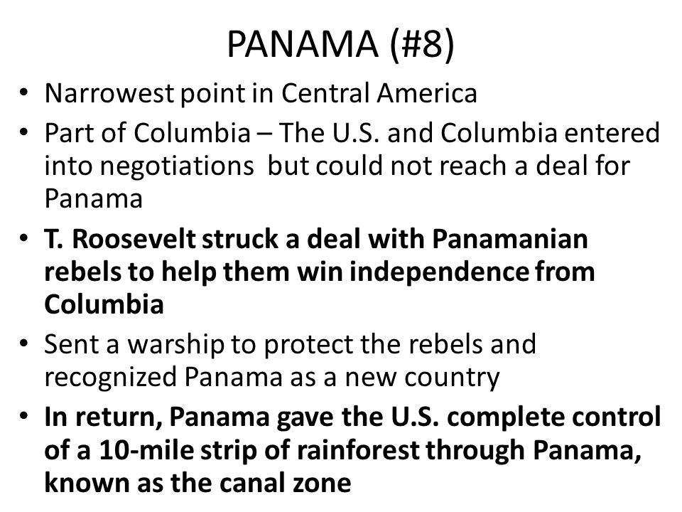PANAMA (#8) Narrowest point in Central America
