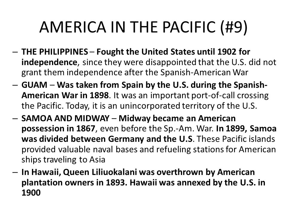 AMERICA IN THE PACIFIC (#9)