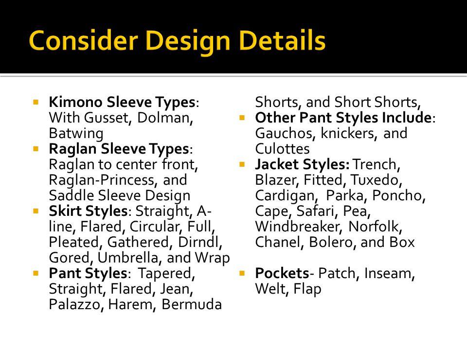 Consider Design Details