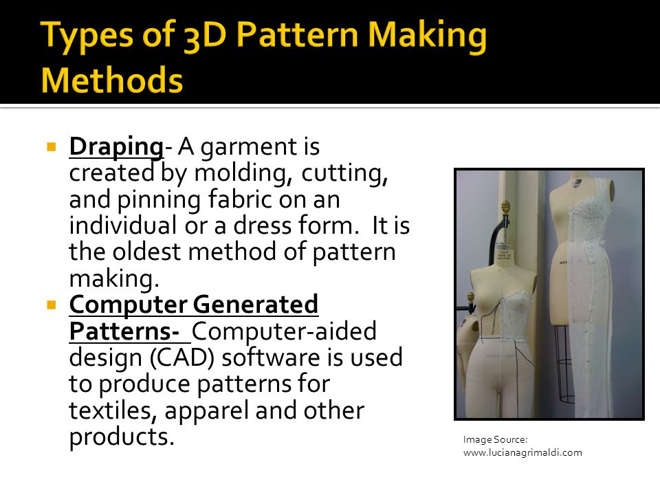 Types of 3D Pattern Making Methods