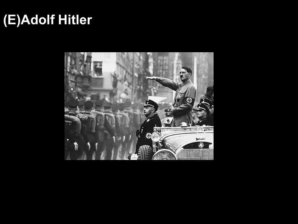 (E)Adolf Hitler