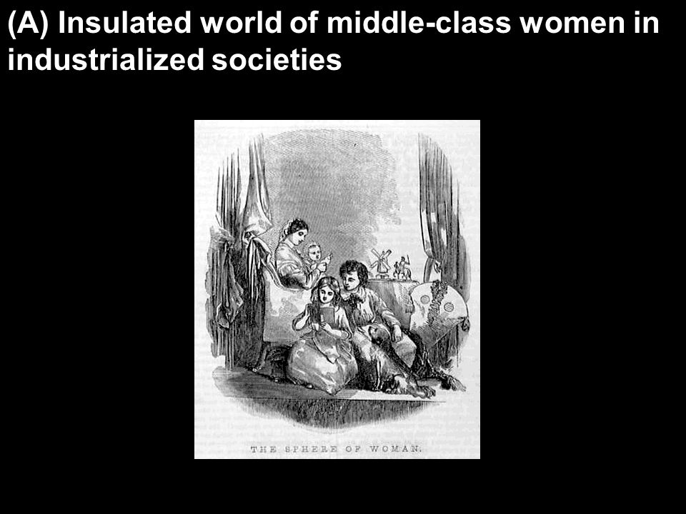 (A) Insulated world of middle-class women in industrialized societies