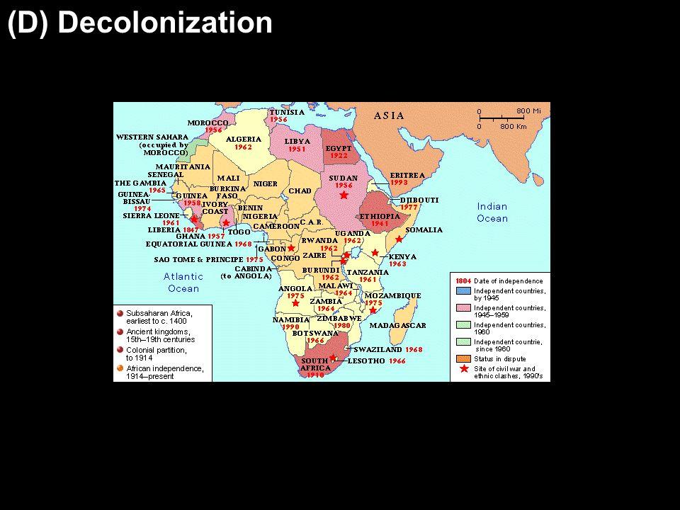 (D) Decolonization