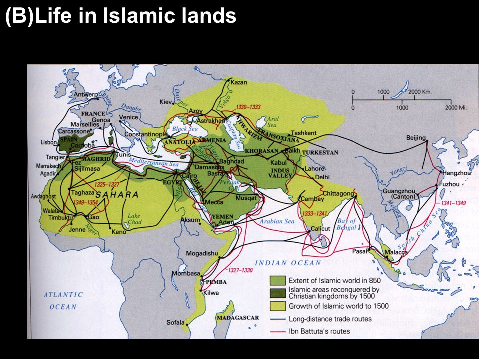 (B)Life in Islamic lands