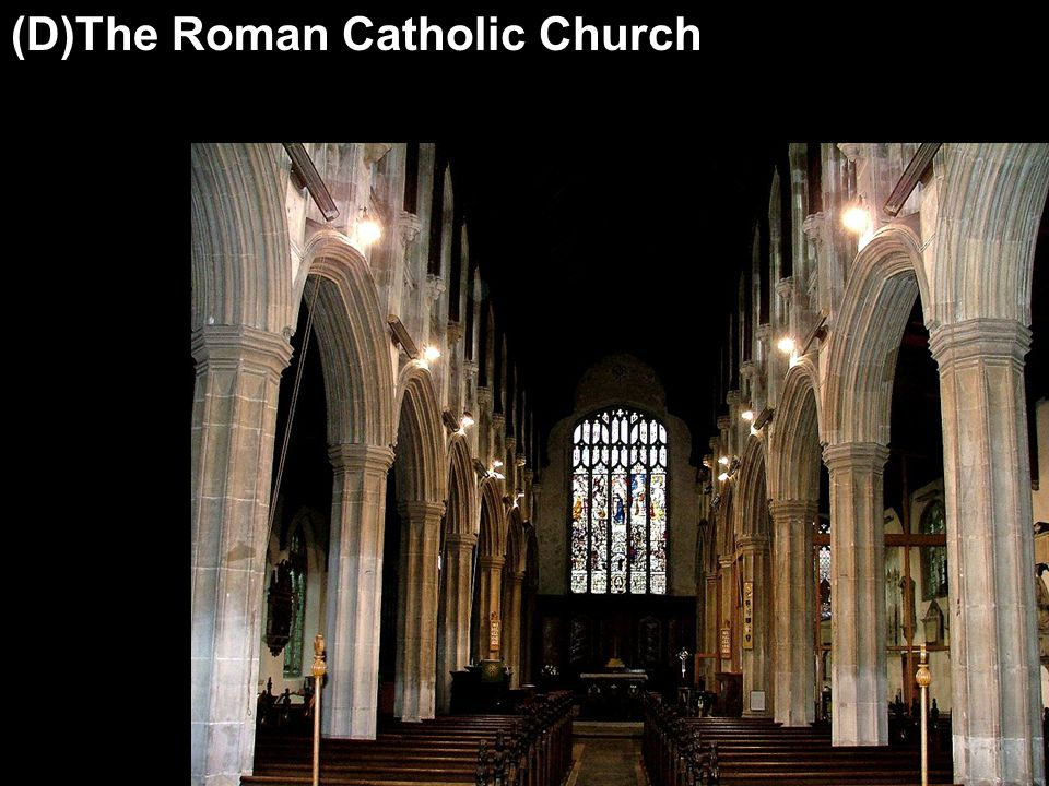 (D)The Roman Catholic Church