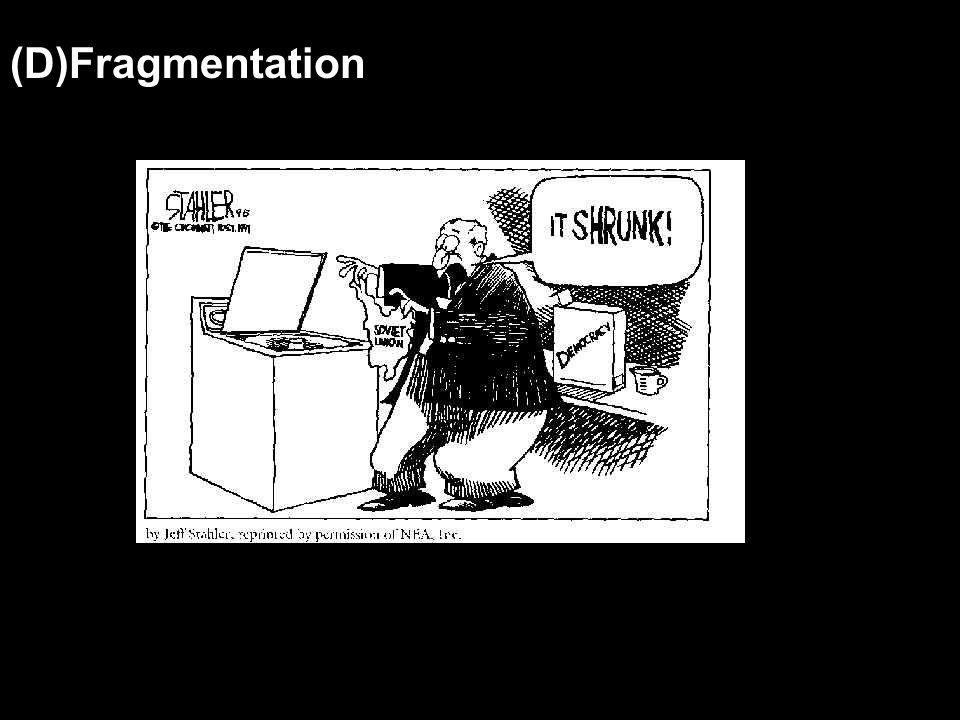 (D)Fragmentation