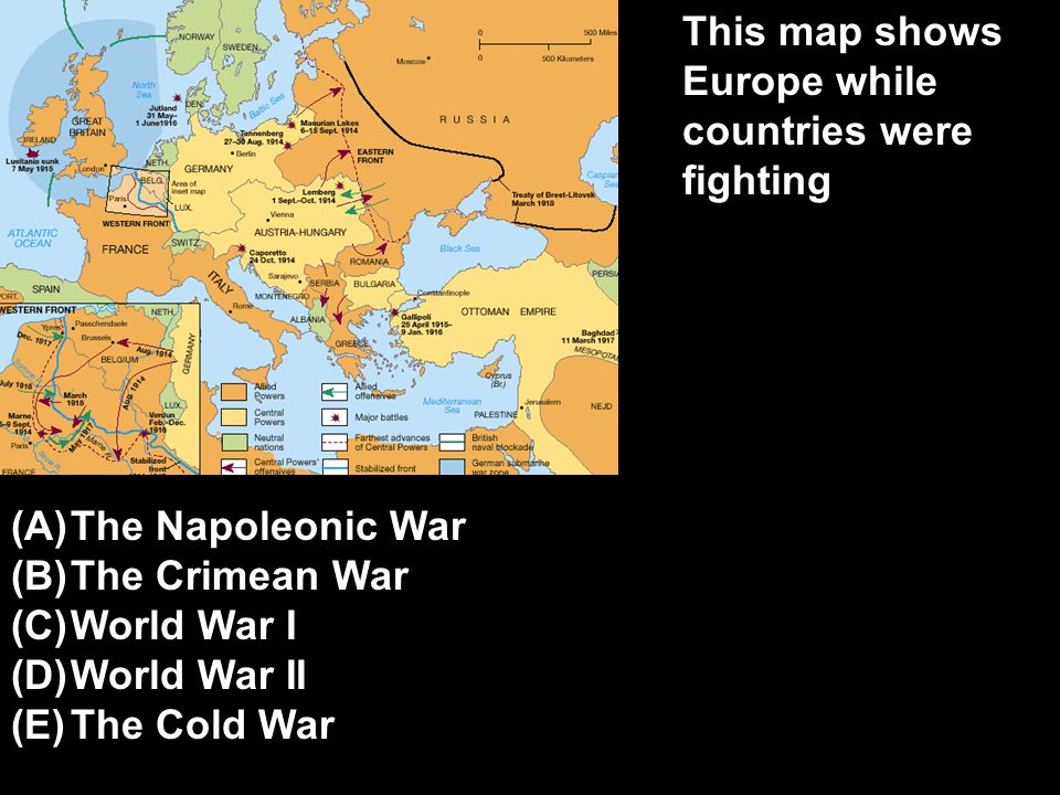 This map shows Europe while countries were fighting