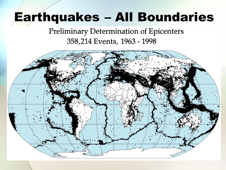 Earthquakes – All Boundaries