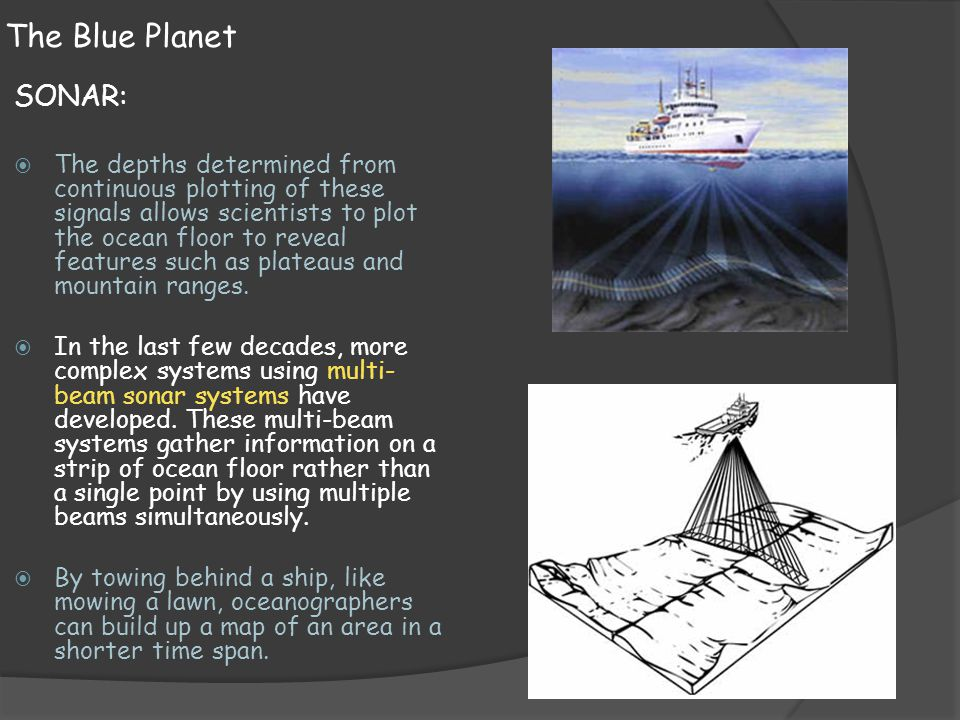 The Blue Planet SONAR: