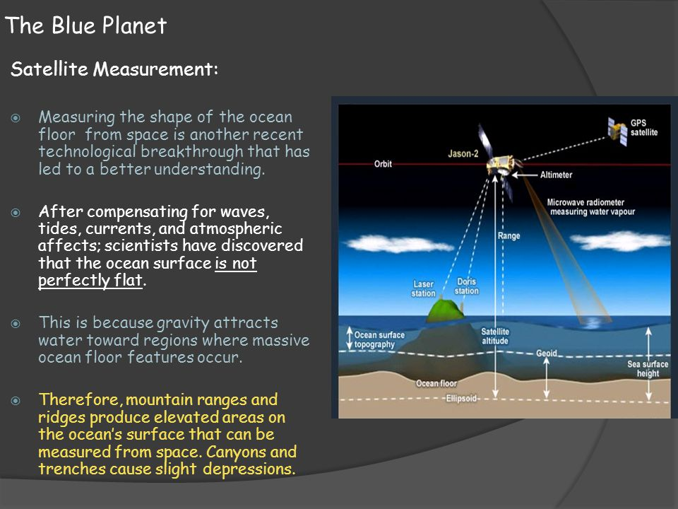 The Blue Planet Satellite Measurement: