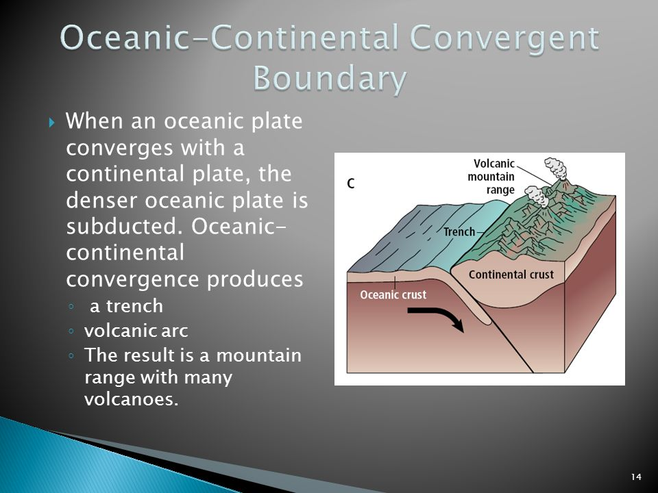 Oceanic-Continental Convergent Boundary