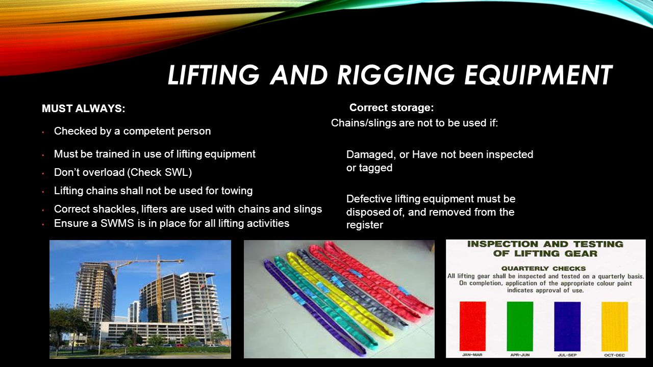 Lifting and Rigging Equipment