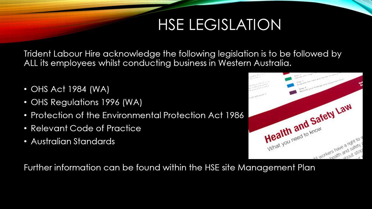 HSE Legislation