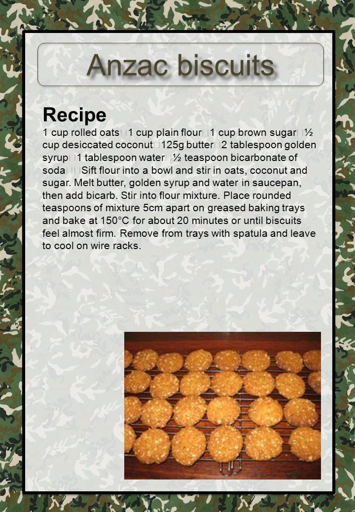 Anzac biscuits Recipe.