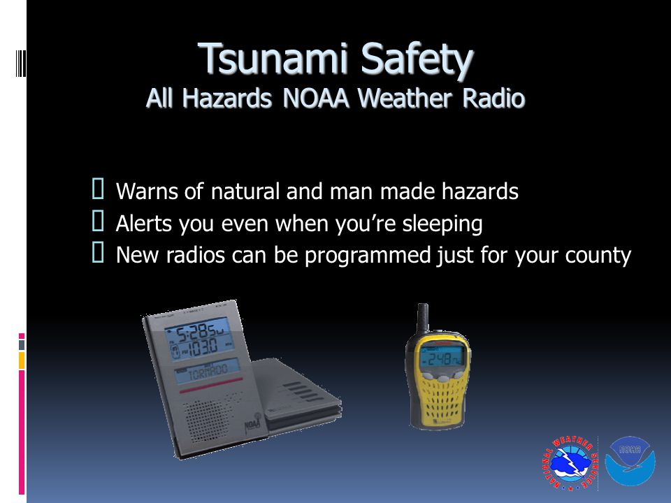 Tsunami Safety All Hazards NOAA Weather Radio