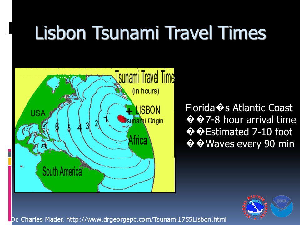 Lisbon Tsunami Travel Times