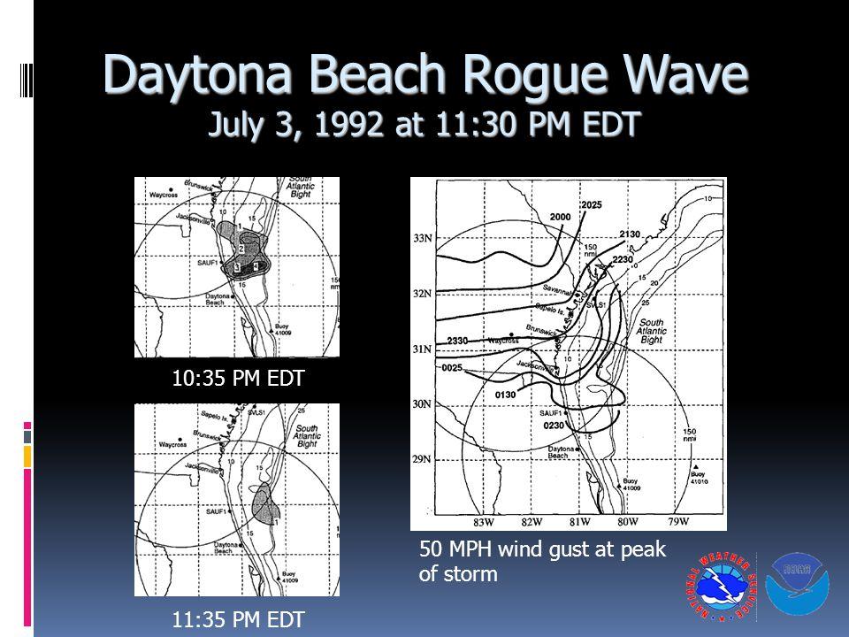 Daytona Beach Rogue Wave July 3, 1992 at 11:30 PM EDT